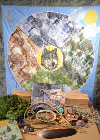 sacred_items_and_Grey_Wolf_quilt